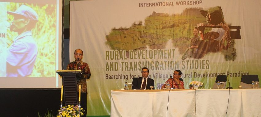 (Indonesia) International Workshop on Rural Development and Transmigration Studies