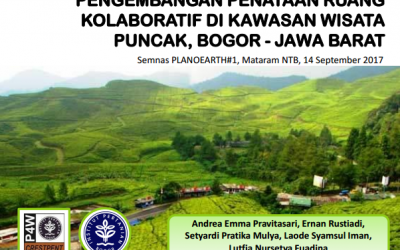 (Indonesia) Pengembangan Penataan Ruang Kolaboratif di Kawasan Wisata Puncak, Bogor