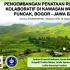 Pengembangan Penataan Ruang Kolaboratif di Kawasan Wisata Puncak, Bogor