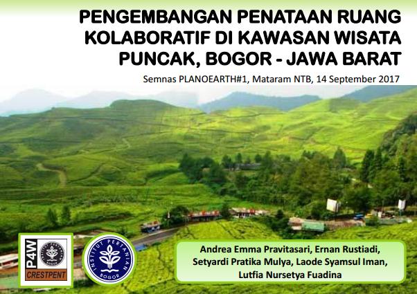 Penataan ruang kolaboratif kawasan puncak Bogor