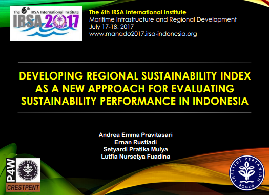 Developing Regional Sustainability Index as a New Approach for Evaluating Sustainability Performance in Indonesia