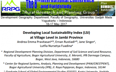 Developing Local Sustainability Index (LSI) at Village Level in Jambi Province