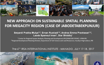 New Approach on Sustainable Spatial Planning for Megacity Region (Case of Jabodetabekpunjur)